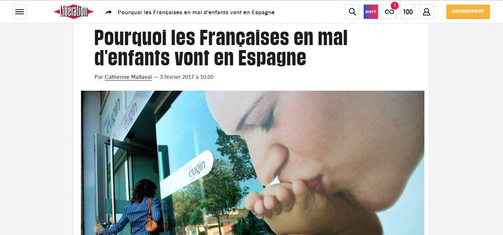 Libération: «Pourquoi les Françaises en mal d'enfants vont en Espagne»