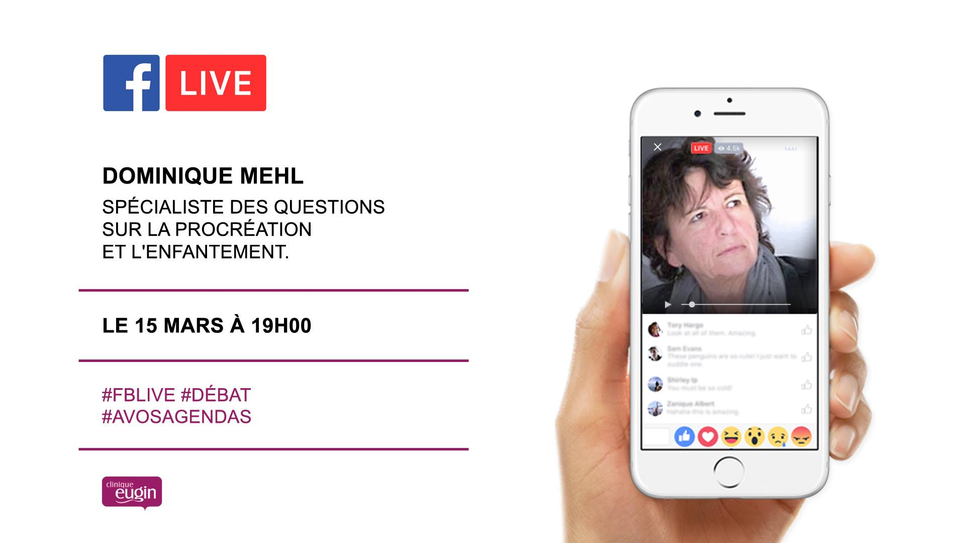 Envie de partager votre expérience et de donner votre avis ? Notre Facebook Live est fait pour vous !